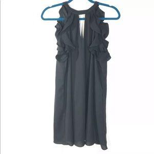 Alythea Size Medium Black Sleeveless Dress Keyhole